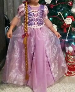 Detalles De Rapunzel Tangled Girl Elaborado Vestido Princesa Disney Dibujitos Animados Fiesta Disfraz 2 7 Años Ver Título Original