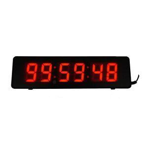 2 39 39 6digits wall clock led countdown digital clock for