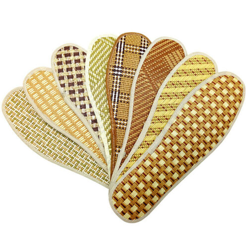 Hand-Woven Bamboo Charcoal Linen Insoles Sports Anti-Bacterial Insoles Insert
