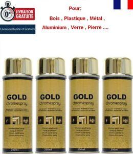 Détails Sur 4 Bombes Chrome Or Doré Peinture Aérosol Effet Miroir Gold Déco Spray 200 Ml