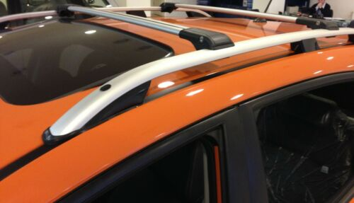 Querträger Silber 2010 Abschließar Dachträger aus Aluminium FIAT DOBLO ab Bj