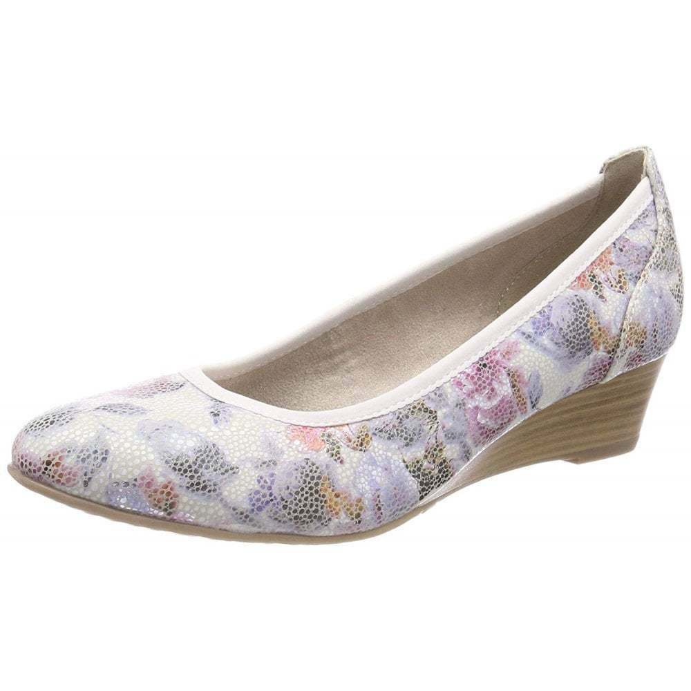 Tamaris 22304-22 Flower Combo Combo Combo Print Synthetic Wedge shoes cfd504