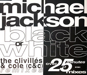 Michael-Jackson-Maxi-CD-Black-Or-White-The-Clivilles-amp-Cole-C-amp-C-Remixes