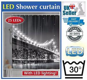 Wenko-LED-NUEVA-YORK-Puente-de-Brooklyn-180-X-200cm-Cortina-de-ducha-novedad-Mundial