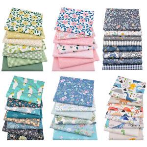 Cotton-Craft-Fabric-DIY-Fat-Quarter-Bundle-Quilting-Patchwork-Floral-Printed