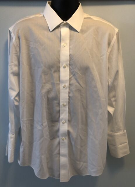 Brooks Brothers 16 1/2 - 32 Mens LS Button Up shirt Solid White Non Iron