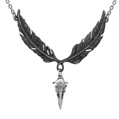 Crow Raven Bird Skull Necklace Gothic Punk Pendant Charm Chain Necklace UK
