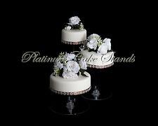 3 TIER CASCADE WEDDING CAKE STAND (STYLE R304)