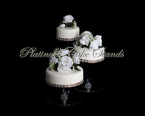 Image Is Loading 3 TIER CASCADE WEDDING CAKE STAND STYLE R304
