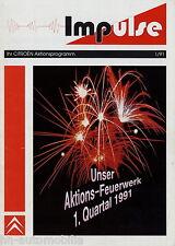 Prospekt Impulse 1 91 für Citroën Händler 1991 AX BX XM Broschüre Autohändler