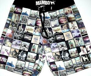 Mambo-Boardshorts-Mens-Large-Boardies-32-034-Surf-Beach-Board-Shorts-Swim-Trunks-L