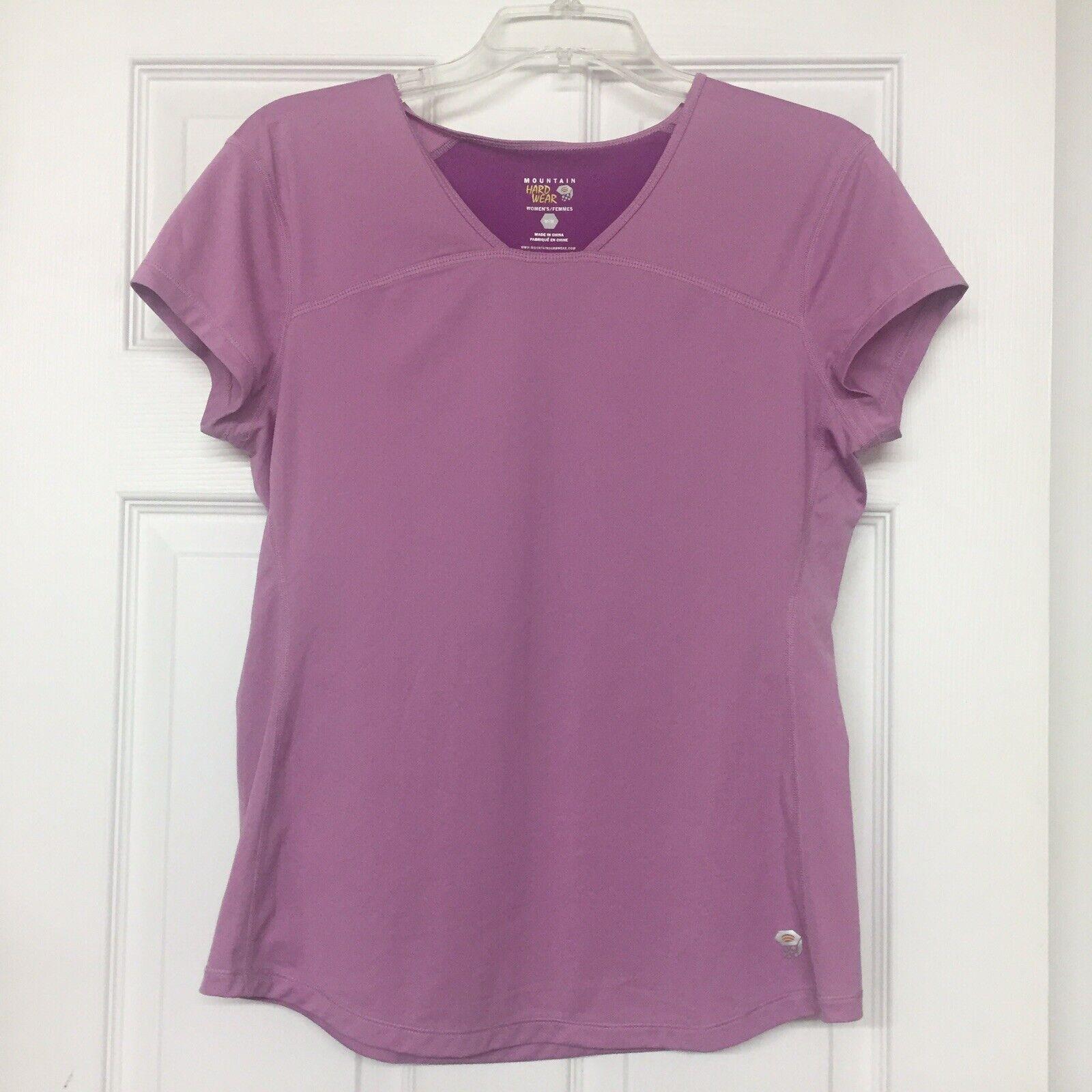 Mountain Hardwear Two Tone Purple Short Sleeved Active Wear Top Sz M