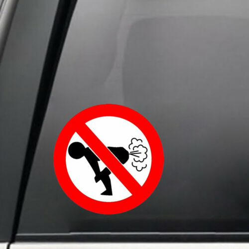 1x Text Word 12*12CM Funny Car Sticker Auto Decoration No Farting Body Decal Hot