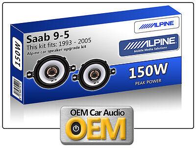 "Saab 9.5 Front Dash speakers Alpine 3.5"" 87cm car speaker kit 150W Max Power"