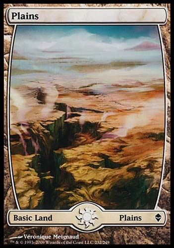 1x Plains #232 Zendikar MtG Magic Land Common 1 x1 Card Cards