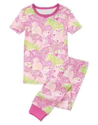 NWT Gymboree Gymmies Super Zebra Love Pink Green Long PJ/'s Pajama Size 5