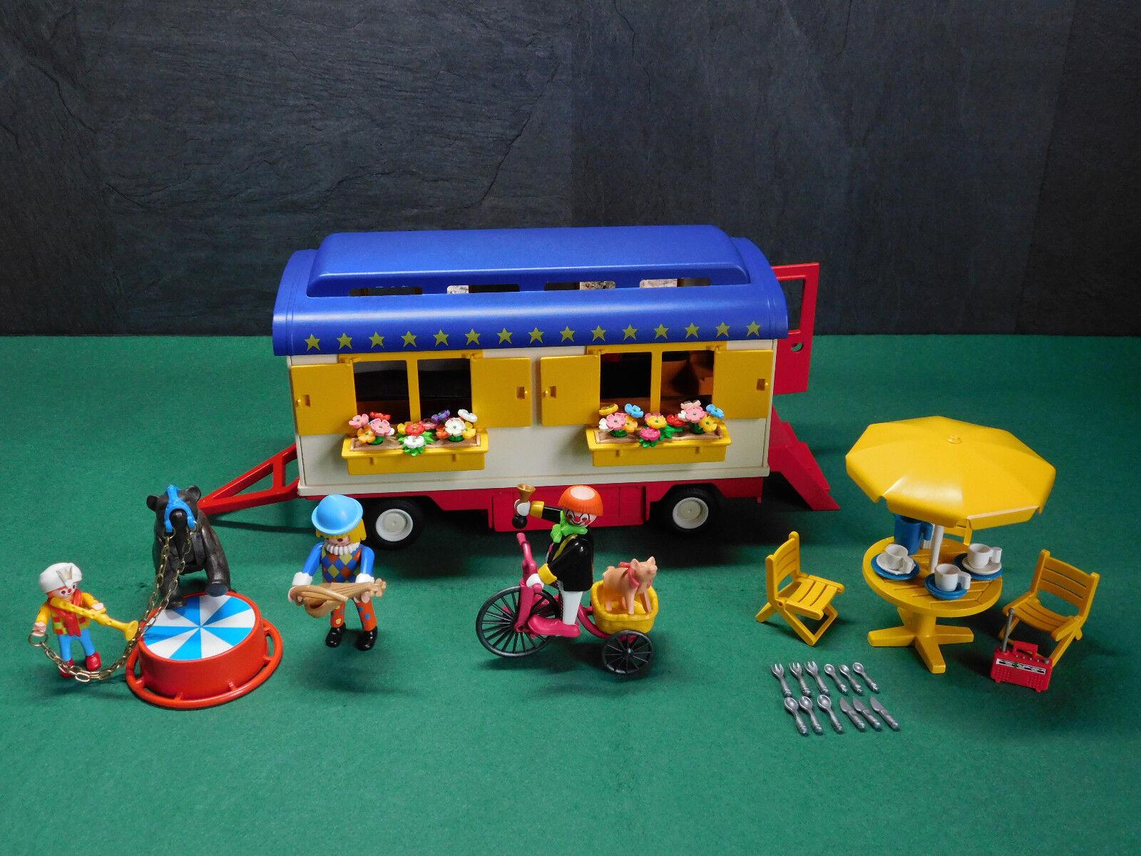Playmobil Rarität Zirkus-Wohnwagen wie 3728-A 1991 II ohne OVP