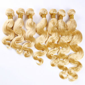 613-color-Virgin-Remy-Brazilian-Body-wave-Weft-Bundle-12-034-24-034-100g-Unprocessed