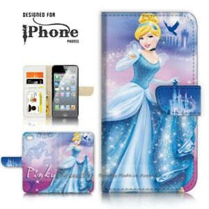 For-iPhone-5-5S-Wallet-Case-Cover-P21059-Cinderella