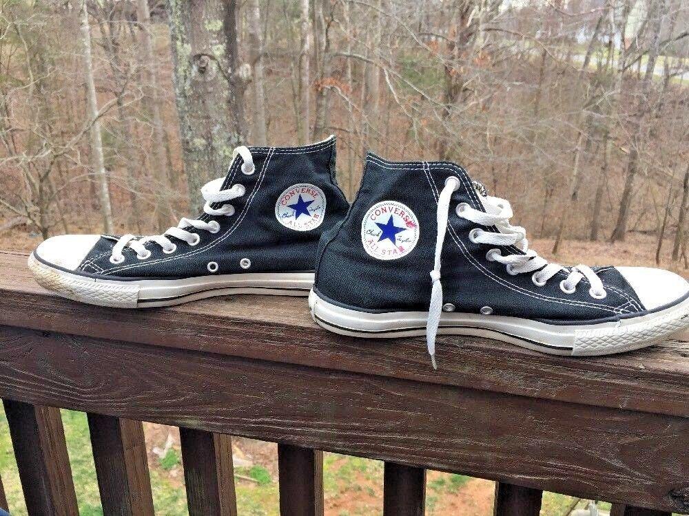 CONVERSE Chuck Tops Taylor All Star High Tops Chuck Canvas Athletic Shoe Mens 9 Womens 11 ❤ 1a1c00