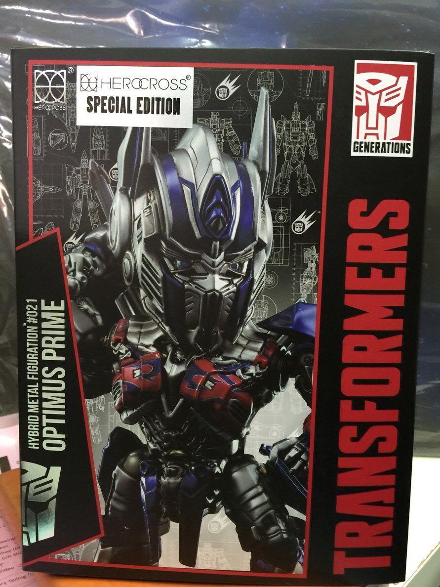Herocross Transformers Hybrid Metal figuración HMF021 Optimus Prime Con Espada