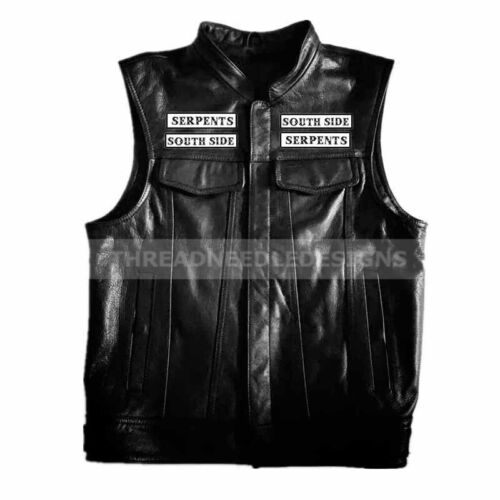Harley di Leather uomo Vest South Side Giacca da Riverdale Serpents da moto IBqwzqx1v