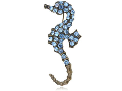 Multi Color Sea Seahorse Rhinestones Animal Horse Brooch Pin Party Gift Jewelry