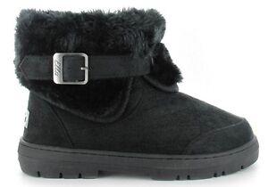 1 Vegan Ankle Ladies Fax Santa Boots Black Buckle Ella Boot Fe Fur gcqOwIgY