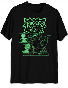 Nickelodeon Mens Black Rugrats Graphic