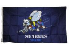 Navy Ship /& Navy Seabees White Flags Flag 3x5 3/'x5/' Wholesale Combo Set U.S