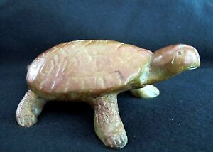 Animal-Sculpture-034-Large-Turtle-034-Reptile-Cast-Bronze-Decorative-Collectible