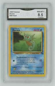 1999 Pokemon Fossil Unlimited #49 Horsea GMA 8.5 Nm-Mt+ A3