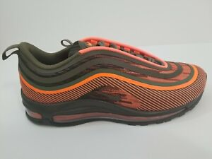 Details about Nike Air Max 97 UL 17 Total Orange Olive Green Running Shoes 918356 80 Size 9