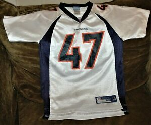 sale retailer b4a85 8c207 Details about John Lynch jersey! Denver Broncos youth MEDIUM 10-12 Vintage  NFL throwback WHITE