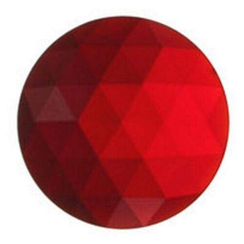 FREE SHIPPING Jewels -JEWEL-20mm ROUND-RED Stained Glass Supplies 3430