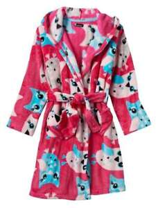 Cuddl Duds Girls Hot Pink Owl Print Bathrobe Bath Robe House Coat  c957b6de9