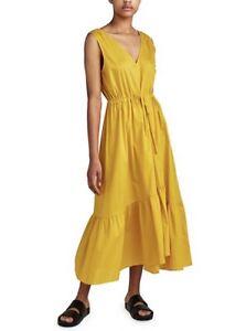 EUC Jac + Jack Yellow Noma Midi/Maxi Dress 100% Cotton Size 10 RRP $399