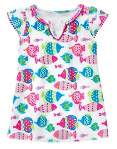 b88ee9ba9c Gymboree Fish Print Swimsuit Cover Up 18 24 NWT Soft Terry*Retail Store