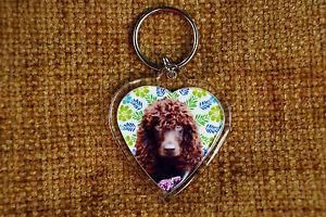Water Spaniel Gift Keyring Dog Key Ring heart Birthday Gift Xmas Mothers Day