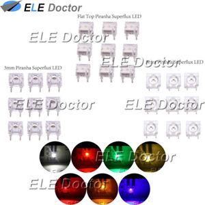 100-500-1000PCS-3mm-5mm-Flat-Top-Piranha-Super-Flux-LED-White-Red-Blue-4pin-Lamp