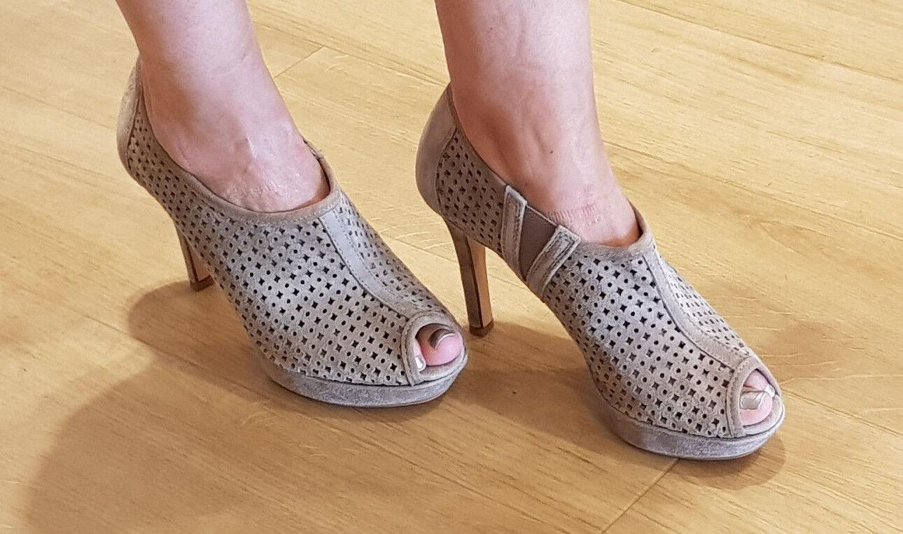 NEW Paul verde mujer Sandals Platform Sandals Peep Toe Beige UK 4 37 SALE