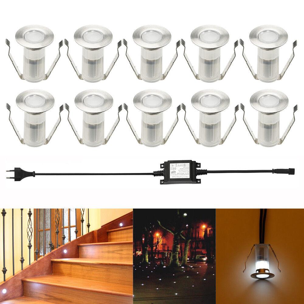 19mm Mini LED Einbaustrahler Einbauleuchte Inenn & Außenlampe kaltweiß Edelstahl