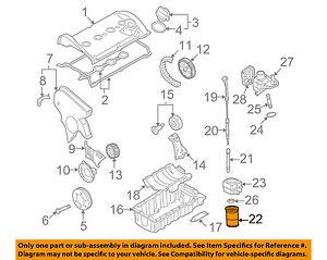 vw volkswagen oem 95 05 jetta engine oil filter 06a115561b ebay rh ebay com VW Engine Parts Diagram Volkswagen Schematics