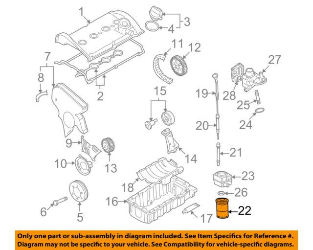 Volkswagen 06A115561B Engine Oil Filter for sale online | eBayeBay