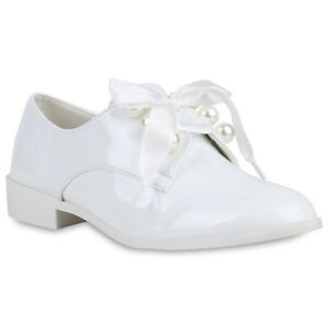 Klassische Damen Halbschuhe Lack Leder-Optik Business Schuhe 821498 Trendy Neu