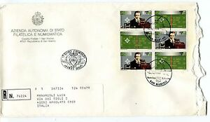1998 Fdc San Marino 100° Radio G.marconi Registered Raccomandata First Day Cover