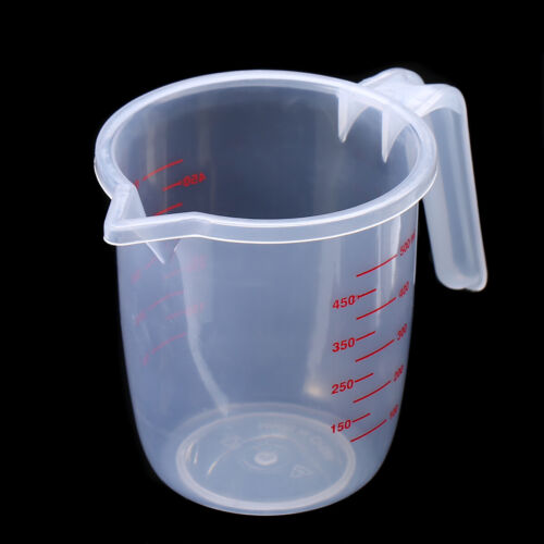 500ml 2 Cups Plastic Measuring Cup Pitcher Tools with Handle /& Pour Spout New