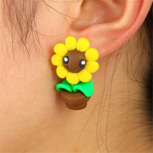 1Pair 3D Women Girls Cute Animal Cat Dog Ear Stud Earrings Set Party Jewelry