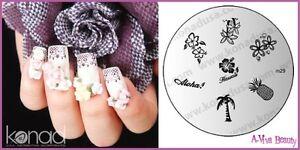 Konad-Stamp-Nail-Art-Decal-Image-Plate-M29-ALOHA-BABY