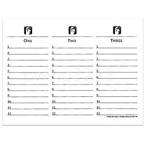 Terrible image regarding clue replacement sheets printable